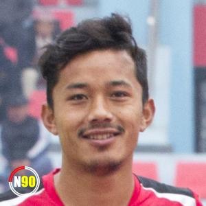 Football player Tej Tamang
