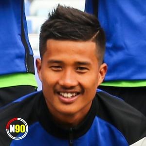 Football player Dinesh Henjam
