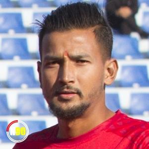 Football player Kuldip Karki