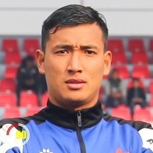 Football player Bikash Tamang