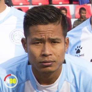 Football player Dayananda Singh Elangbam