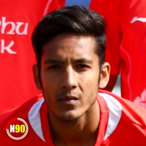 Football player Kuber Bista